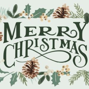Lionskarte - Merry Christmas